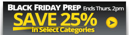 Get 25% OFF select categories, click here.