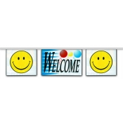 2-Sided Mini Banner Strings (Welcome/Smiley)