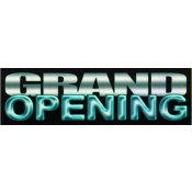 2 X 7 Banner-Grand Open (Silver/Blk/Blue)