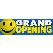 2 X 7 Banner-Grand Open (Happy Face)