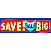 2 X 7 Banner- Sale - Save Big (Red/Blue)