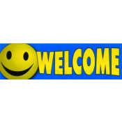 3X10 Banner- Welcome (Happy Face)
