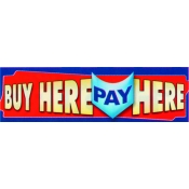 2X7 Banner- Buy Here Pay Here (Red/Blue)