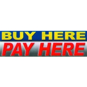 2X7 Banner- Buy Here Pay Here (Red/Blu/Slvr)