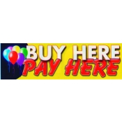2X7 Banner- Buy Here Pay Here (Balloons)
