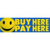 2X7 Banner- Buy Here Pay Here (Happy Face)
