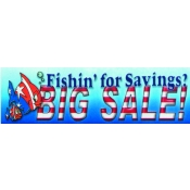 2X7 Banner- Big Sale W/Fish (Red/Wht/Blu)
