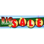 2X7 Banner- Big Gigantic Sale (Grn/White/Yel)