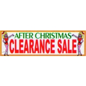 2X7 Banner- After X-Mas Sale (Red/White/Grn)