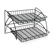 2-Tier Wire Counter Waterfall Rack