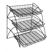 3-Tier Wire Counter Waterfall Rack