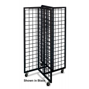 4-Way Gridwall Merchandiser (Black)