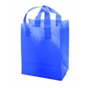 Wholesale Shopping Bags (Elecrtric Blue) Frosted Gift Bags/Double Loop Handles