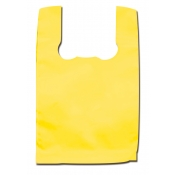 Wholesale T-Shirt Style Shopping Bags (Yellow) Standard-Size Plastic T-Shirt Bags