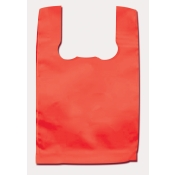 Wholesale T-Shirt Style Shopping Bags (Red) Standard-Size Plastic T-Shirt Bags
