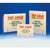 "8 1/2"" W X 11"" H Top Load Sign Holder"