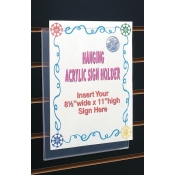 "8 1/2"" W X 11"" H Hanging Sign Holder"