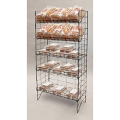 (Black) Adjustable 5-Tier Wire Shelf Rack