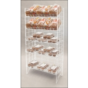 (White) Adjustable 5-Tier Wire Shelf Rack