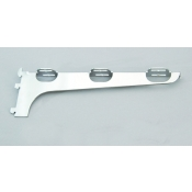 "(Chrome) 12"" Bracket For Wood Shelves (L)"