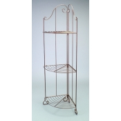 (Bronze tone)3-Tier Corner Decorative Rack