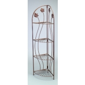 (Bronzetone)4-Tier Decorative Corner Rack