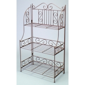 "(Bronze tone) 42""H 3-Tier Decorative Rack"