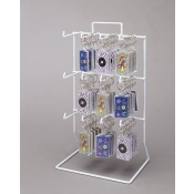 12-Peg Counter Rack (White)