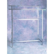 Chrome- Double Rail Rectangular Rack