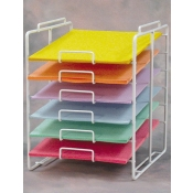"6-Tier Scrapbook Paper Rack ( 8.5"" X 11"" )"