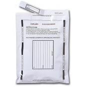 "(White) 9""X12"" Tamper Evident Bags-100Pc"