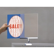 "Acrylic 8.5""Wx11""H Gridmount Sign Frame"