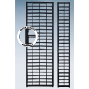 "(Black)24"" X 84"" K/D Slatgrid Wall Panel"