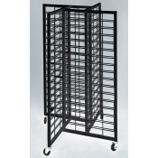 (Black) 4-Way Slatgrid Merchandiser
