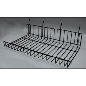 "(Black) 22"" Slat Flat shelf"