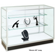 "Extra Vision Glass Showcases (Size: 70""L x 20""W x 38""H)"