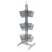 Wire Basket Slotted Tower Display (12-Baskets)