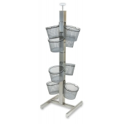 Wire Basket Slotted Tower Display (8-Baskets)