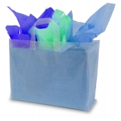 Large Clear Frosty Shopping Bags (Box of 100)