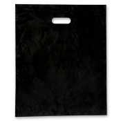 Jumbo Black Low Density Merchandise Bags (Box of 500)