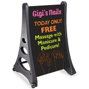 """QL"" Black Erasable A-Frame Sign"