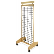 "2-Sided Mobile Wooden Gridwall Display (25"" Width)"