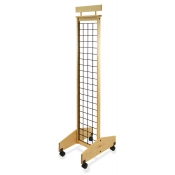 "2-Sided Mobile Wooden Gridwall Display (13"" Width)"