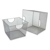 "Square Wire Mesh Baskets - 10""H x 13.5"" Square"