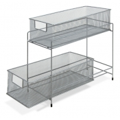2-Tier Wire Mesh Storage Drawer Rack