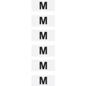 """M"" Wrap-Around Clear Size Labels (Roll of 500)"