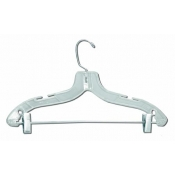 "(Clear) 17"" Suit Hanger (100 Pack)"