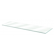 "Clear Tempered Glass Shelf - 10"" X 48"" (5-pack)"