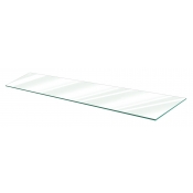 "Clear Tempered Glass Shelf - 12"" X 48"" (5-pack)"