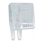 2-Way Glass Cube Clip (Lexan)